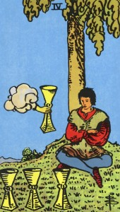 Tarot-Rider-Waite-4-of-Cups