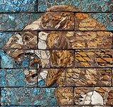 Lion mur du temple d'Ishtar